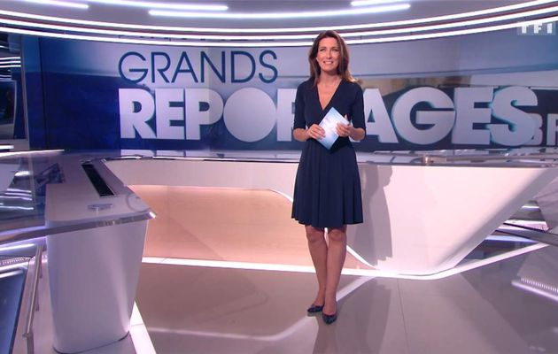 Anne-Claire Coudray JT 13H TF1 le 20.05.2017