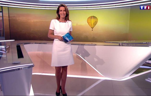 Anne-Claire Coudray JT 20H TF1 le 26.05.2017