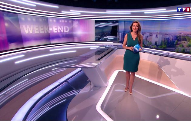 Anne-Claire Coudray JT 20H TF1 le 27.05.2017