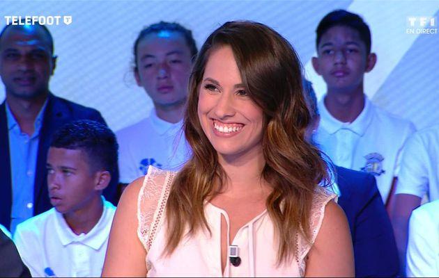 Charlotte Namura Téléfoot TF1 le 28.05.2017