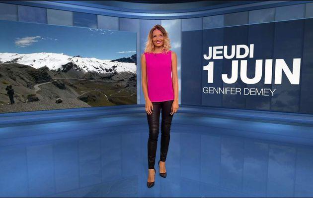 Gennifer Demey Météo M6 le 01.06.2017