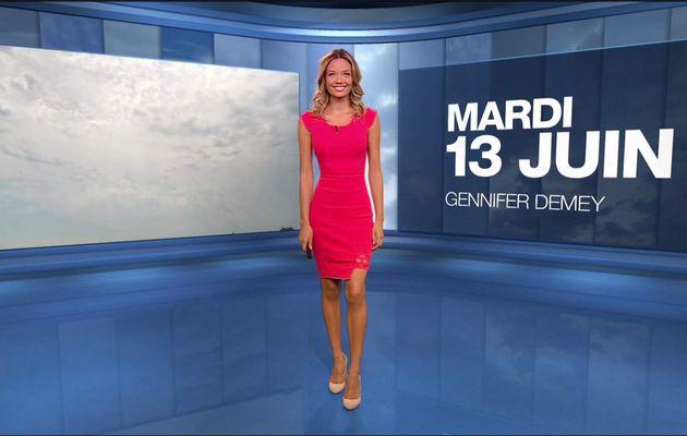 Gennifer Demey Météo M6 le 13.06.2017