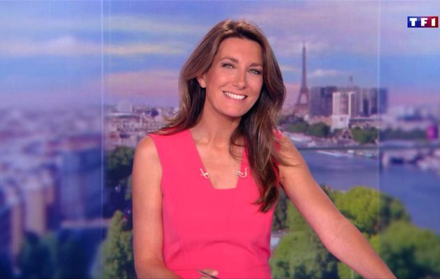 Anne-Claire Coudray JT 13H TF1 le 08.07.2017
