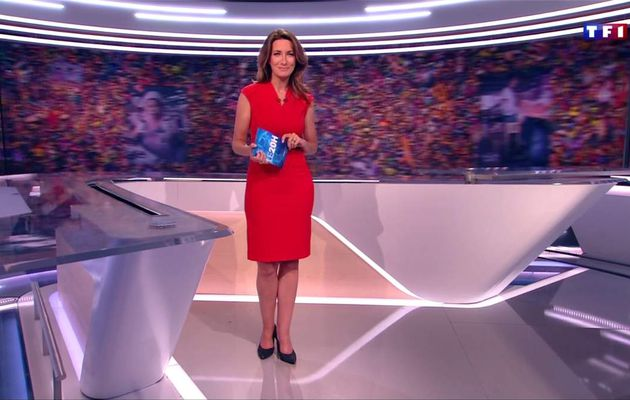 Anne-Claire Coudray JT 20H TF1 le 08.07.2017