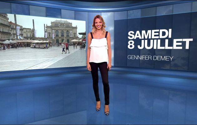 Gennifer Demey Météo M6 le 08.07.2017