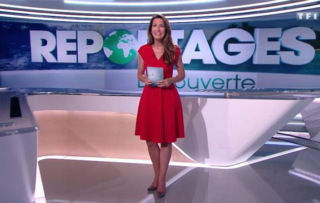Anne-Claire Coudray JT 13H TF1 le 09.07.2017