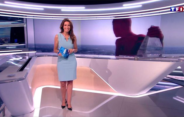Anne-Claire Coudray JT 20H TF1 le 09.07.2017
