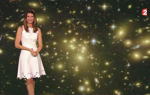 Chloé Nabédian Météo France 2 le 28.07.2017