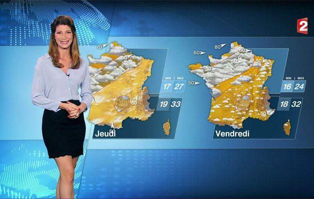 Chloé Nabédian Météo France 2 le 01.08.2017