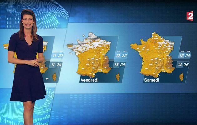 Chloé Nabédian Météo France 2 le 04.08.2017