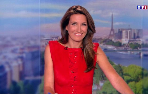 Anne-Claire Coudray JT 20H TF1 le 25.08.2017