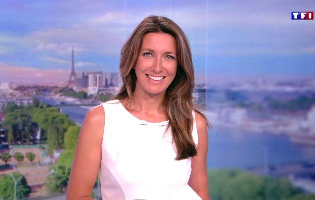 Anne-Claire Coudray JT 13H TF1 le 27.08.2017