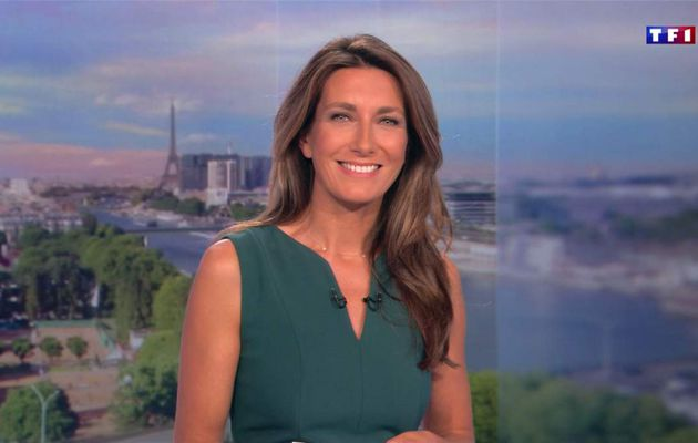 Anne-Claire Coudray JT 13H TF1 le 02.09.2017
