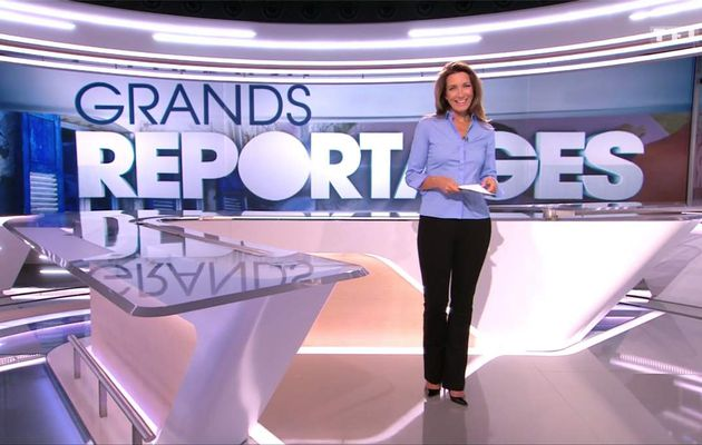 Anne-Claire Coudray JT 13H TF1 le 08.10.2017