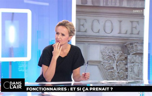 Caroline Roux C Dans l'Air France 5 le 10.10.2017