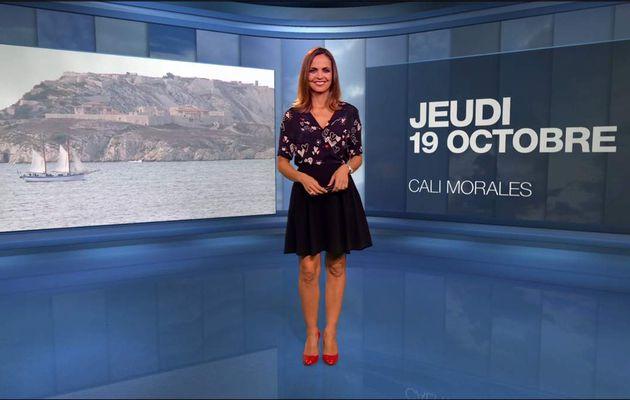 Cali Morales Météo M6 le 19.10.2017