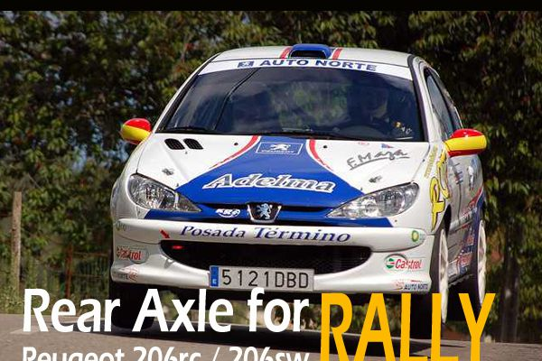 Enhanced Marxxon Peugeot 206RC rear axle torsion bars reinforced bar helps 206RC in Rally Race