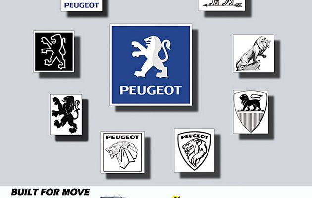 Peugeot logo history and evolution from 1847 to 2002