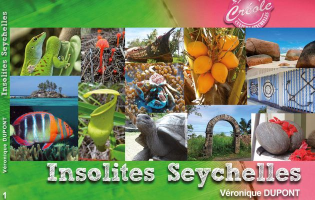 The first cover of the book Insolites Seychelles