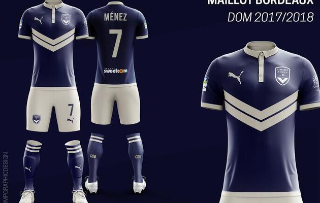maillot bordeaux girondins homme 2017 2018