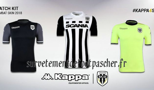 Maillot de foot Angers 2017-2018
