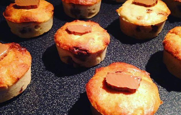 Recette gourmande : Mini Cakes façon cookies au chocolat praliné