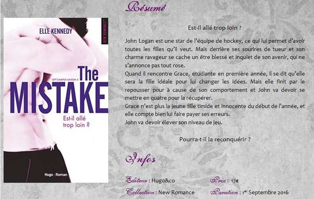 The Mistake (Off Campus #2) d'Elle Kennedy