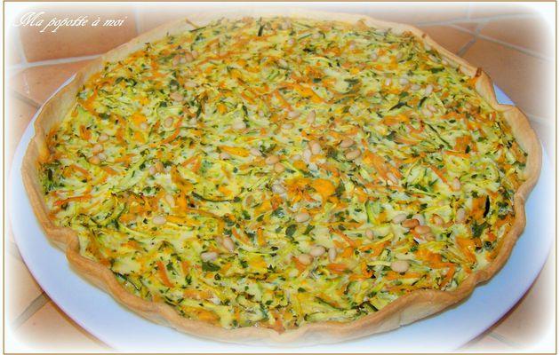 Quiche de légumes et mimolette