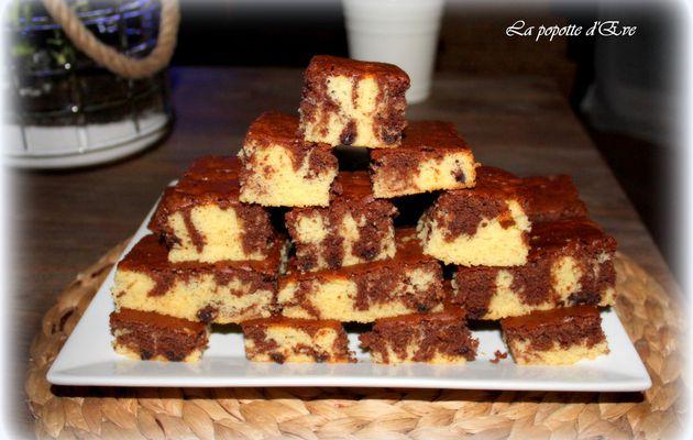 Les briques marbrées au chocolat