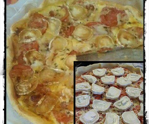Tarte tomate jambon chèvre