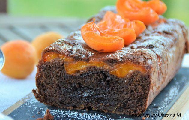 Moelleux au Chocolat with Apricots