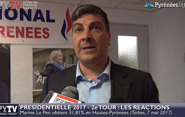 HPyTv Présidentielle :: Réaction d'Olivier Monteil (FN 65) au 2d tour (7 mai 2017)