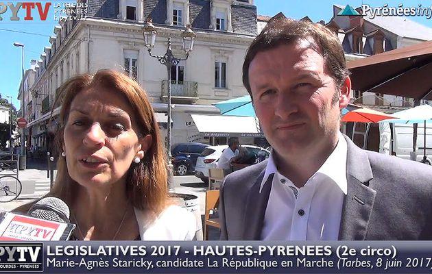 HPyTv Législatives | Marie Agnès Staricky candidate LREM Hautes Pyrénées 2e (8 juin 2017)