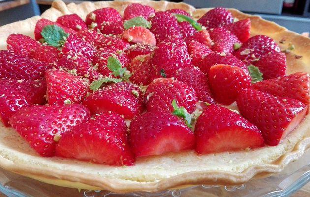 Les fraises chocolat blanc