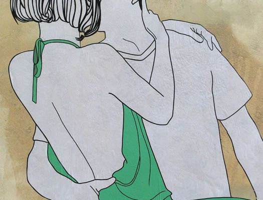 "Les ""Kissing Lovers"" de Claire StreetArt"