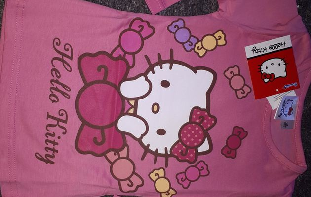 t-shirt manches longues fille (hello kitty)