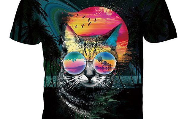BFUSTYLE Unisexe 3D imprim/é /ét/é Casual Manches Courtes O-Neck Top T-Shirts