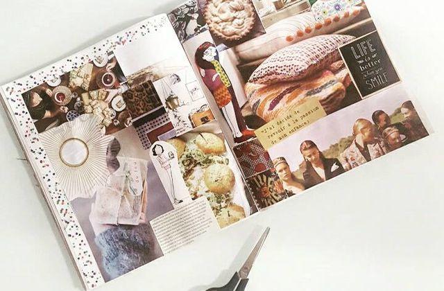 Mon carnet d'inspiration ou carnet de collage