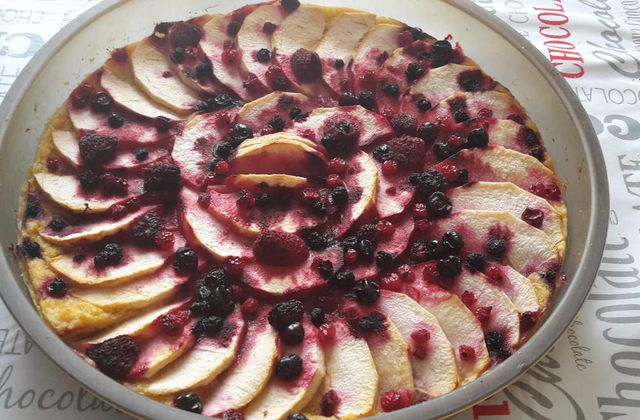 TARTE POMME-POMME AUX FRUITS ROUGES (4SP/PART) THERMOMIX