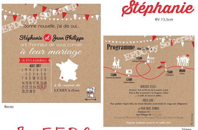 Le faire part de mariage thème FÉRIA de Stéphanie et Jean Philippe ...