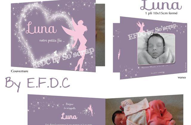 Le faire part de naissance de la petite FÉE Luna ...