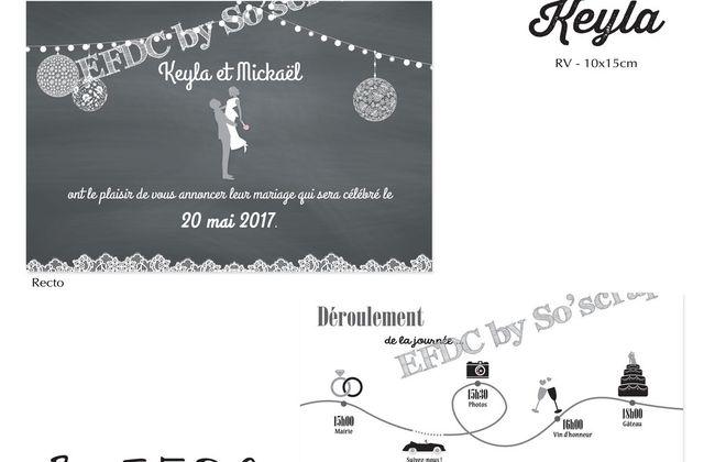 Le faire part de mariage de Keyla et Mickaël ... thème noir & blanc