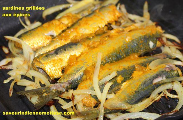 Sardines grillées aux épices