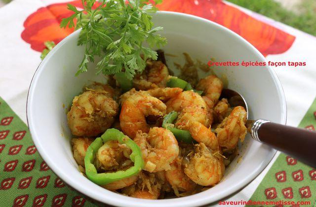 Crevettes épicées façon tapas