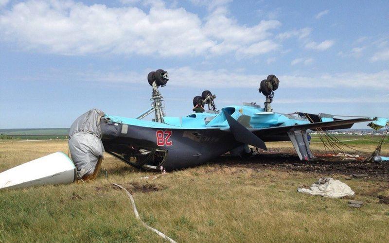 VIDEO - Un Su-34 Fullback russe se retourne lors de son atterrissage
