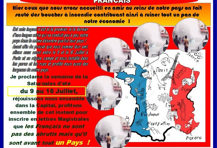 Fêtes Nationale de la Saturnales : Entre le 9 et le 16 Juillet à PARIS et sa Région