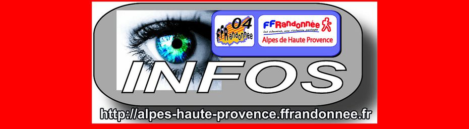 SITE INTERNET FFRANDONNEE 04 NON DISPONIBLE MOMENTANEMENT - AVIS
