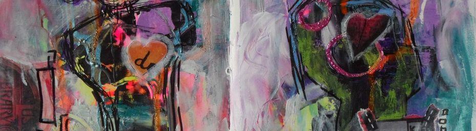"""Art journal """"j'ouvre les yeux"""" thème 2"""