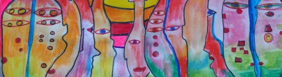 """Art journal """"J'ouvre les yeux"""" thème 3"""