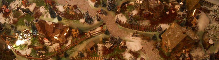 Noël 2016 : Village miniature entre terres et mer
